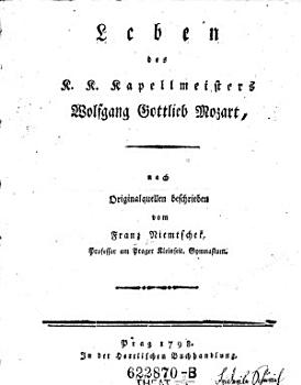 Leben des K K  Kapellmeisters Wolfgang Gottlieb Mozart PDF