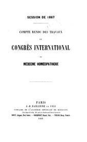Compte rendu des travaux du Congrès international de médecine homoeopathique