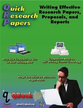 QRP 英文研究论文写作: 编写有效的研究论文,建议和报告