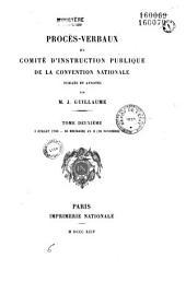 Procès-verbaux du Comité d'instruction publique de la Convention nationale: 3 juillet-20 nov. 1793 (30 brumaire an II) 1894