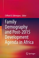 Family Demography and Post 2015 Development Agenda in Africa PDF