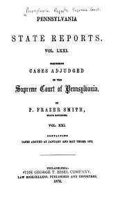 Pennsylvania State Reports: Volume 71