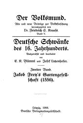 Deutsche Schwänke des 16. Jahrhunderts: Bände 5-8