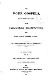 The Four Gospels: Volume 4
