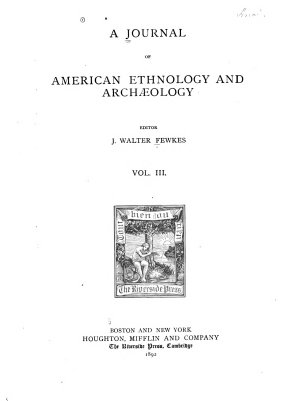A Journal of American Ethnology and Arch  ology PDF