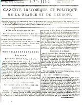 Gazette historique et politique de la France et de l'Europe