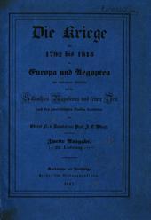 Die Kriege von 1792 bis 1815 in Europa und Aegypten: mit besonderer Rücksicht auf die Schlachten Napoleons und seiner Zeit. Kartenband, Band 2