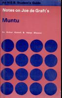 Notes on Joe de Graft s Muntu PDF