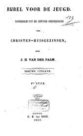 Bijbel voor de jeugd: tafereelen uit de gewijde geschiedenis voor christen-huisgezinnen, Volume 1