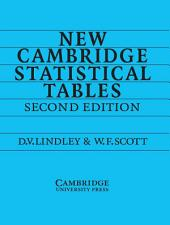 New Cambridge Statistical Tables: Edition 2