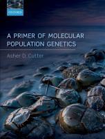 A Primer of Molecular Population Genetics PDF