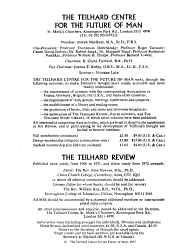 The Teilhard Review PDF