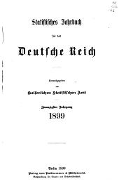 Statistisches Jahrbuch für das Deutsche Reich: Bände 20-21