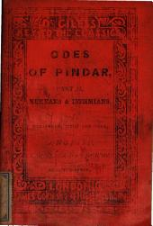 The odes of Pindar, tr., with notes and illustr., by [G.] West, Greene and Pye