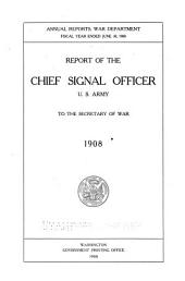Annual Report of the Chief Signal Officer