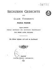 Pauca paucis: sechzehn Gedichte