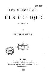 Les mercredis d'un critique, 1894