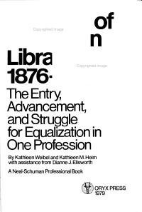 The Role of Women in Librarianship  1876 1976 PDF