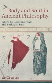Body and Soul in Ancient Philosophy