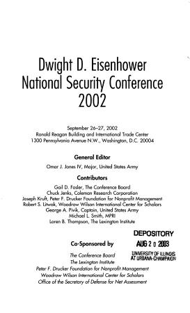 Dwight D  Eisenhower National Security Conference PDF