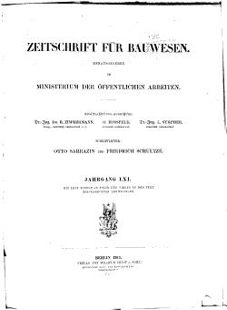 Zeitschrift f  r Bauwesn PDF