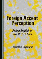 Foreign Accent Perception PDF