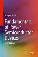 Fundamentals of Power Semiconductor Devices PDF