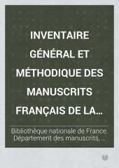 Inventaire géneral et méthodique des manuscrits français de la Bibliothèque nationale: Théologie