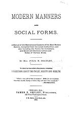 Modern Manners and Social Forms
