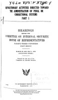 Hearings  Reports and Prints of the House Committee on Internal Security PDF