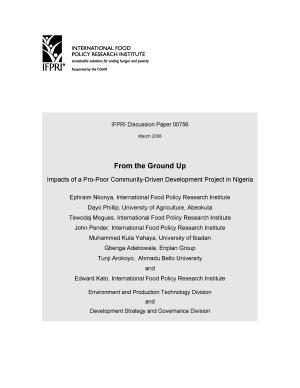 From the Ground Up: Impacts of a Pro-Poor Community-Driven Development Project in Nigeria