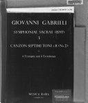 Symphoniae sacrae  1597   3 PDF