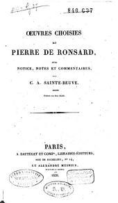 Oeuvres choisies de Pierre de Ronsard