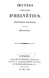 Oeuvres Completes D'Helvétius: Volume 3