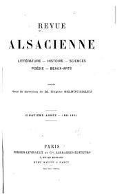 Revue alsacienne: Volume5