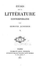 Études sur la littérature contemporaine: Volume10