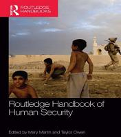 Routledge Handbook of Human Security PDF