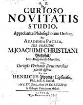 De curioso novitatis studio