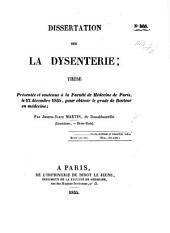 Dissertation sur la dysenterie; thèse, etc