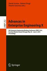 Advances in Enterprise Engineering X PDF