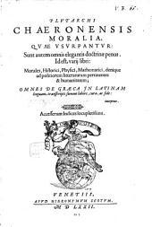 Moralia opuscula