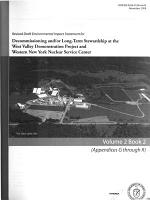 West Valley Demonstration Project for Completion and Western New York Nuclear Service Center Closure Or Long-term Management, Appalachian Plateau, City of Buffalo