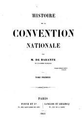 Histoire de la Convention nationale: Volume1