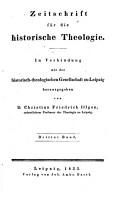 Zeitschrift fur die Historische Theologie PDF