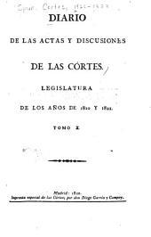 Diario de las actas y discusiones de las Córtes: Legislatura de los años de 1820 y 1821, Volumen 10