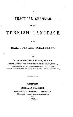 A Practical Grammar of the Turkish Language PDF