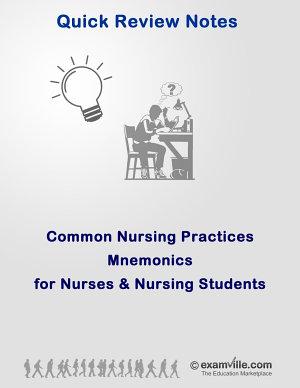 Common Nursing Practices Mnemonics for Nurses   Nursing Students