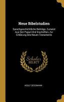 Neue Bibelstudien PDF