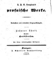 Sämmtliche Schriften: Vollständige, vom Verfasser selbst besorgte, verb. und verm. Original-Ausg. letzter Hand, Bände 15-16