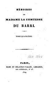 Mémoires de Madame la comtesse Du Barri: Volume4